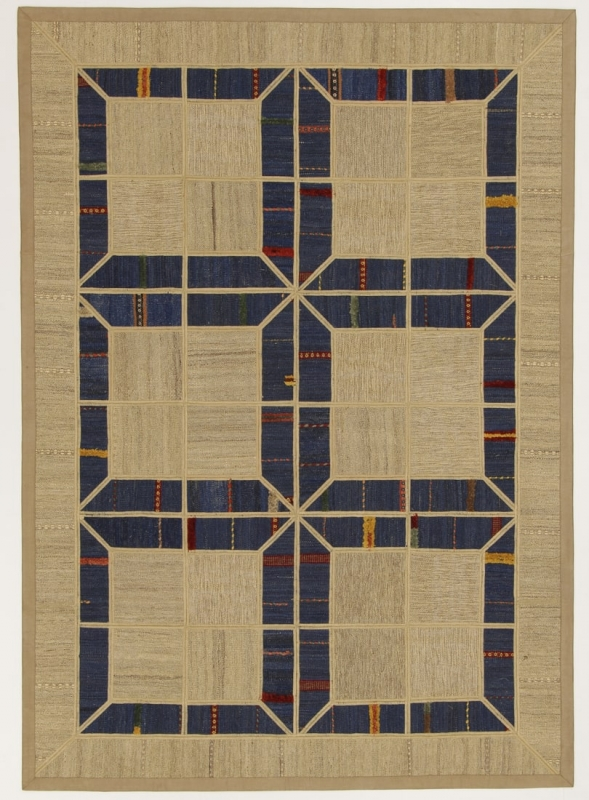 Perserteppich patchwork  Patchwork Kelim blau (148x208cm)