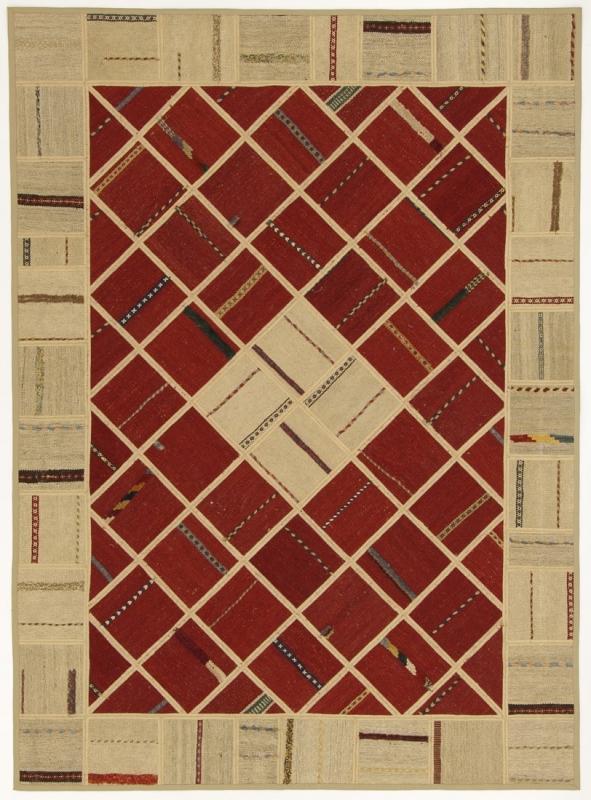Perserteppich patchwork  Patchwork Kelim rot (151x208cm)