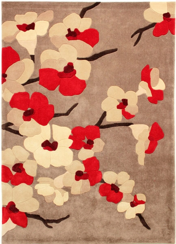 Teppich Montapis Blute Rot