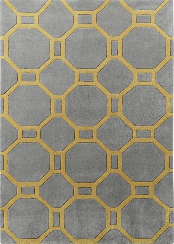 teppich montapis hk 4338 grau gelb. Black Bedroom Furniture Sets. Home Design Ideas