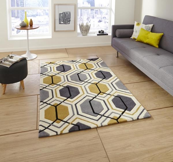 Teppich MonTapis HK 7526 Grau Gelb Nice Look