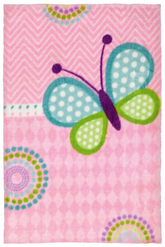 Kinderteppich MonTapis Lollipop Butterfly