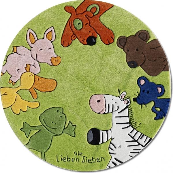 Kinderteppich die lieben sieben  Kids LS-2195-01R Die Lieben Sieben