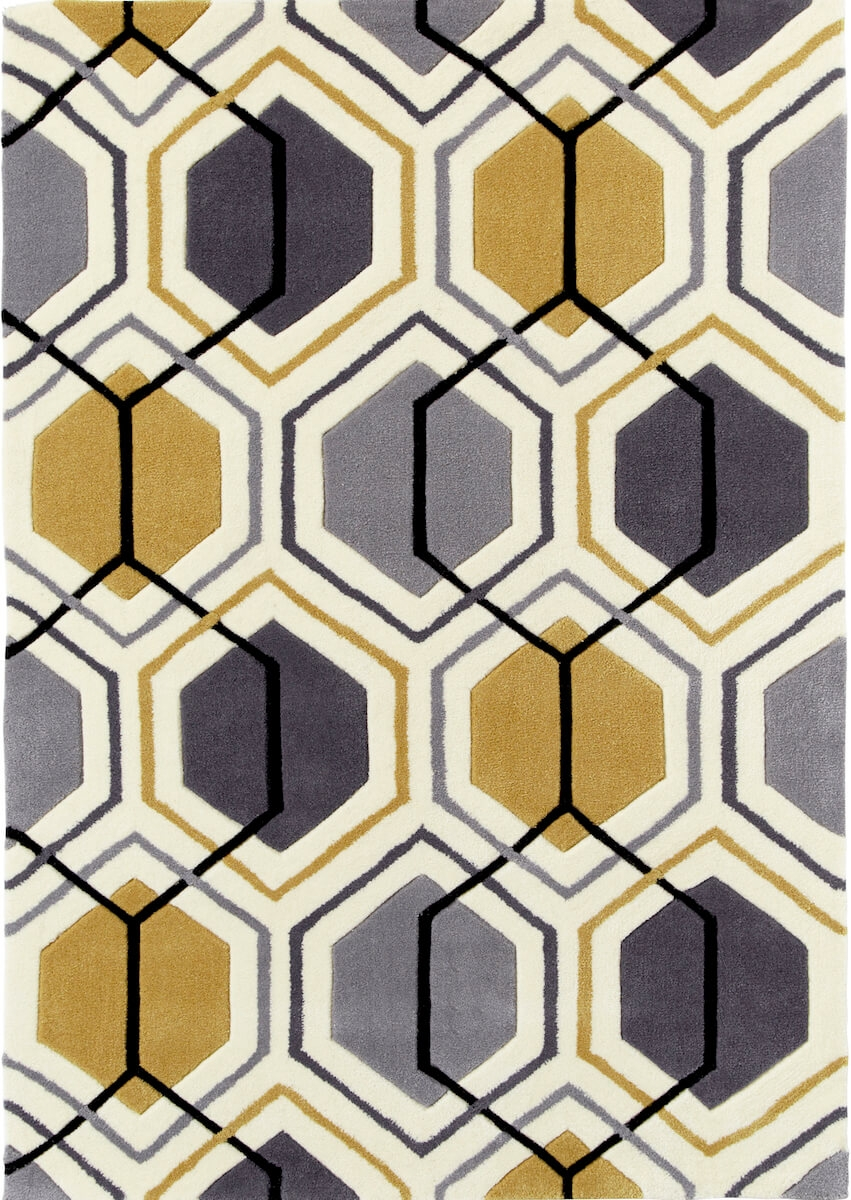 teppich montapis hk 7526 grau gelb. Black Bedroom Furniture Sets. Home Design Ideas