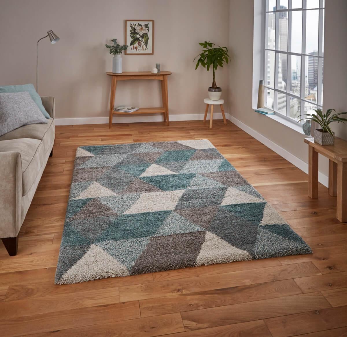 teppich montapis 7611 grau petrol. Black Bedroom Furniture Sets. Home Design Ideas