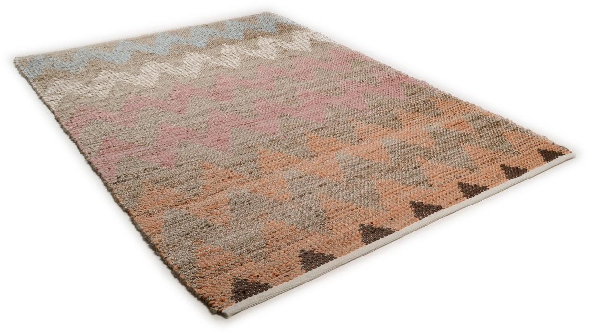tom tailor teppich smooth comfort pastel zigzag natural multi 115. Black Bedroom Furniture Sets. Home Design Ideas