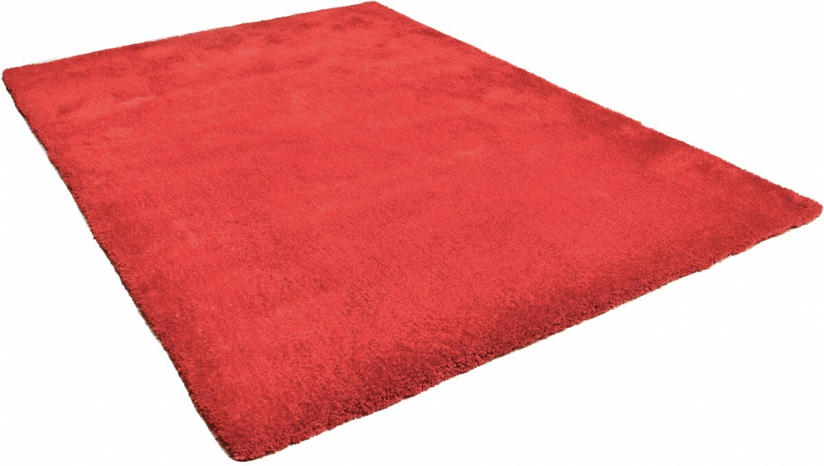 Tom Tailor Kuschelteppich Soft Uni Red 201