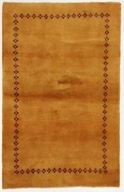 Perserteppich Gabbeh gelb (105x163cm)
