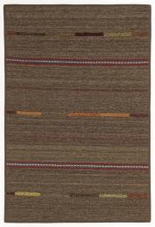 Perserteppich Kelim Stripe grau (103x154cm)