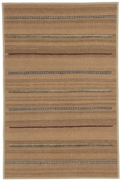 Perserteppich Kelim Stripe hellbraun (97x147cm)