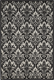 Teppich MonTapis Damask Floral Black White