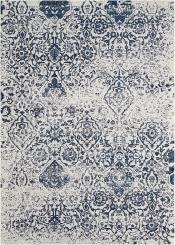 Teppich MonTapis Damask Boheme Navy