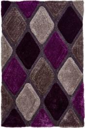 Kuschelteppich MonTapis 9247 Grau/Violett