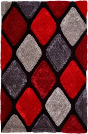 Kuschelteppich MonTapis 9247 Grau/Rot