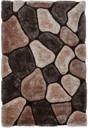 Kuschelteppich MonTapis NH-5858 Beige/Brown