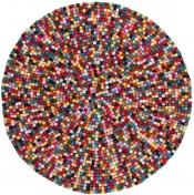 Teppich MonTapis Passion bunt rund