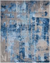 Teppich Alfombra Prismatic Blue Grey