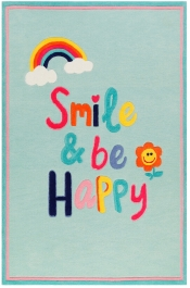 Kinderteppich Wecon Home Happy Smile blau