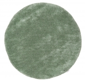 Tom Tailor Kuschelteppich Soft Uni hell grün rund