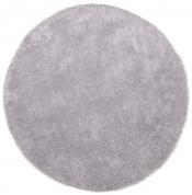 Tom Tailor Kuschelteppich Soft Uni grau rund